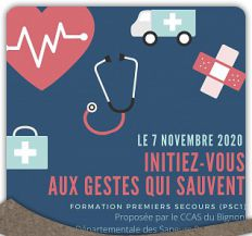Formation PSC1 - Initation aux premiers secours le 7 novembre