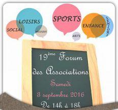 Forum des Associations : samedi 3 septembre !
