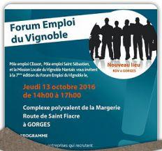 A vos agendas ! 13 octobre Forum de l'emploi du Vignoble