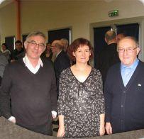 De gauche à droite, Jean-Jo RIOT, Patricia RIPOT et Marcel GIRAUDET
