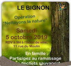 """Opération """"Nettoyons la nature"""""""