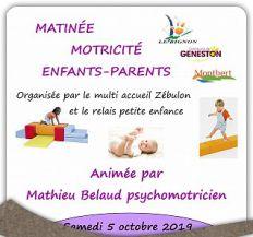 Matinée psychomotricité parents-enfants 5 octobre 2019