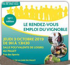 Rendez-vous emploi du Vignoble - 3 octobre 2019