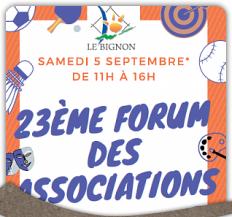 Forum des associations - Samedi 5 septembre