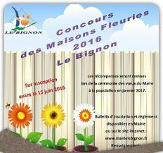 Concours des maisons fleuries 2016