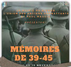 Mémoires de 39-45 : Expo en mairie du 10 au 15 novembre