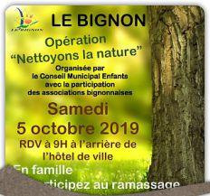 """Opération """"Nettoyons la nature"""" - 5 octobre 2019"""