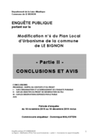 CONCLUSIONS CE Modification 6 PLU LE BIBNON